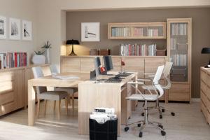 przestronne biuro z kolekcją Kaspian od BRW